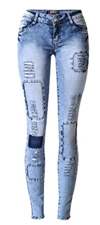 Skinny jeans for women with holes
