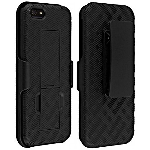 Apple Combo (Verizon Shell Holster Combo Case for Apple iPhone 5/5S/Se with Kick-Stand & Belt Clip)