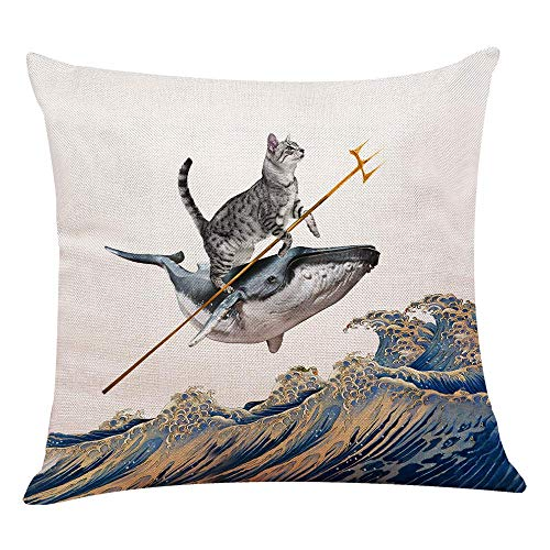 yuzi-n Aquacat Throw Pillow Covers, Sofa Couch Decor, Home Decor, Children Room Decoration 18