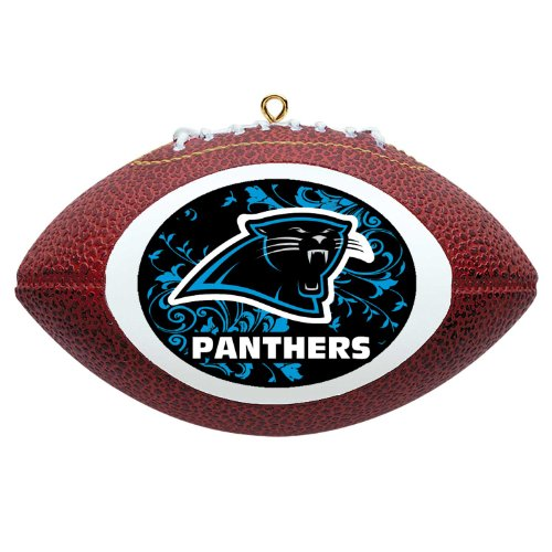 NFL Carolina Panthers Football Ornament