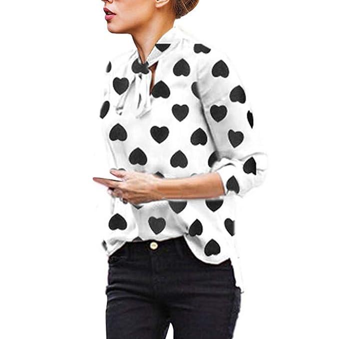 PANY Mujer Ropa, Mujer Elegante Color Sólido Manga Larga Hombro Mujer Trabajo Blusas Pajarita Camisa