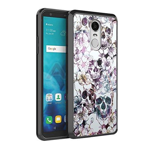 (Capsule Case Compatible with LG Stylus 4, LG Stylo 4 (Year 2018), LG Stylus Q [Hybrid Slim Back Shield Fused TPU Edge Bumper Case Black] for LG Stylo 4 -)