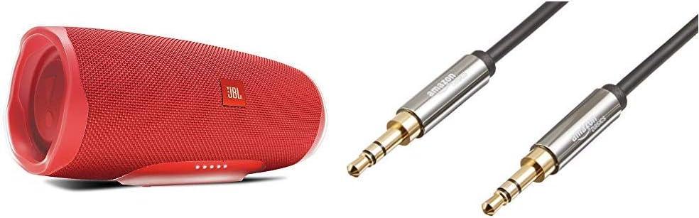 Jbl Charge 4 Bluetooth Lautsprecher In Rot Portable Boombox Mit Integrierter Powerbank Amazon Basics Aux Kabel Stereo Audiokabel 3 5 Mm Klinkenstecker Auf 3 5 Mm Klinkenstecker 1 2 M Audio Hifi