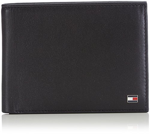 Tommy Hilfiger ETON CC AND COIN POCKET AM0AM00651 Herren Geldbörsen 14x10x2 cm (B x H x T), Schwarz (BLACK 002)