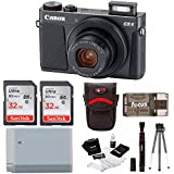 Canon Powershot G9 X Mark II Digital Camera with 64GB Kit and Accessory Bundle