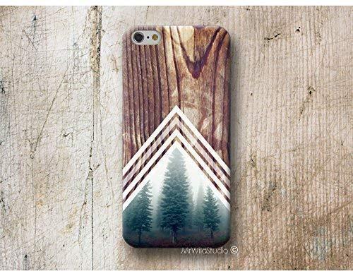Funda Madera Print Chevron Bosque para iPhone 4 5 5s SE 6 6s 7 Plus Samsung Galaxy s8 s7 s6 s5 A5 A3 J5... Huawei LG Moto Oneplus Sony HTC ....