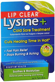 Lip Clear Lysine+ Cold Sore Treatment 0.25 oz (Pack of 2)