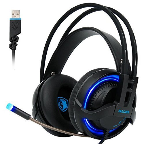 SADES R2 Gaming Headset 7.1 Surround Sound USB Over the ear