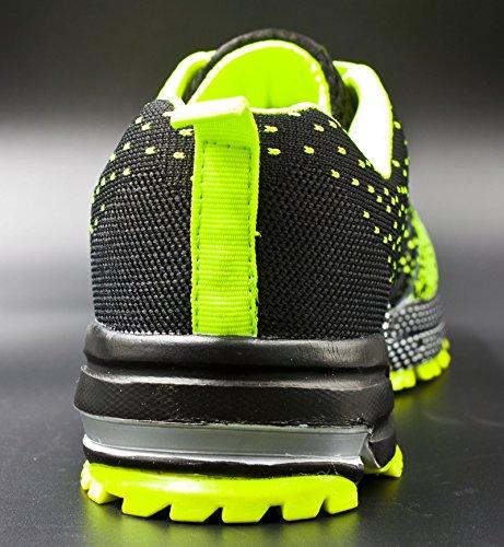 Jiye Athletic Shoes Mens Womens Outdoor Tennis Jogging Walking Fashion Sneaker, Scarpe Da Corsa Verde
