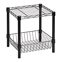 Deals on Honey-Can-Do Commercial Metal Table w/Basket SHF-02216
