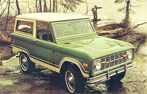 1974 Ford Bronco ORIGINAL Factory Postcard from Ford