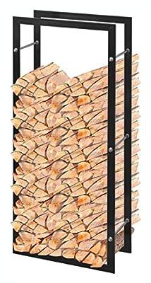 "K&A Company Log Rack & Carrier, Firewood Rack Rectangular 39.4"""