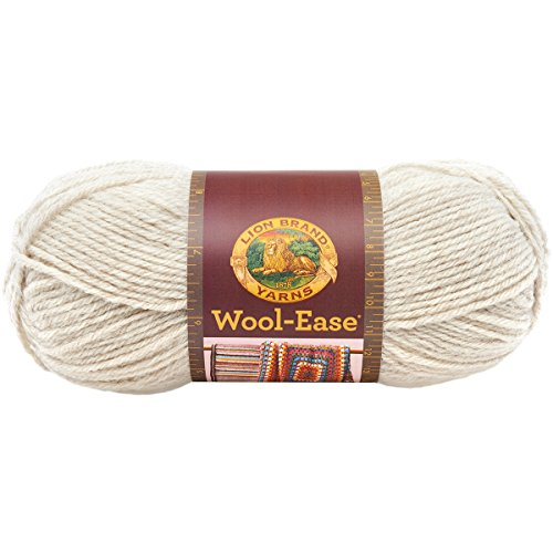 Lion Brand Yarn 620-098 Wool-Ease Yarn, Natural Heather