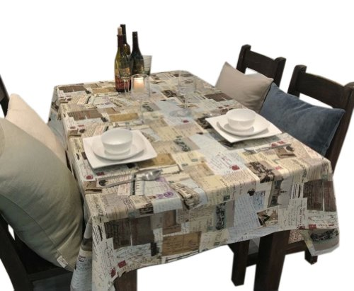 PANDA SUPERSTORE [Postcard] Country Style Linen Tablecloths/Table Cloths/Table Cover (120170CM)