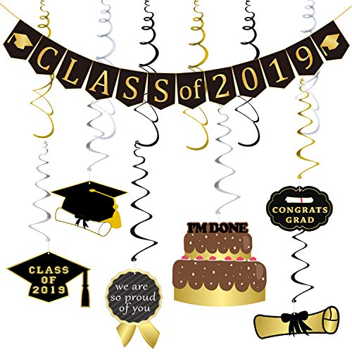 High School Graduation Party Decorations - Partyprops Class of 2019 Banner and
