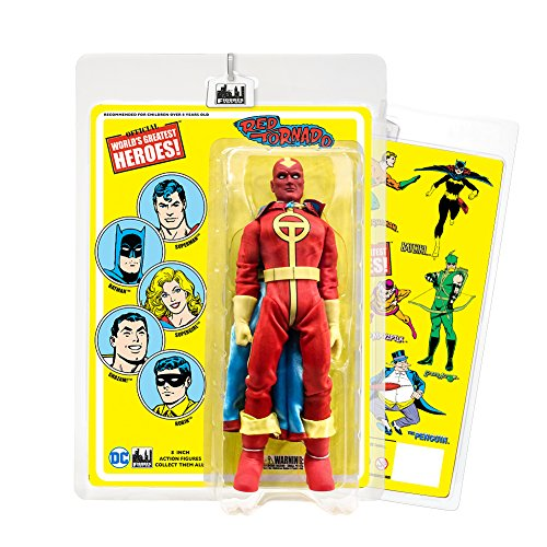 DC Comics 8 Inch Action Figures with Retro Cards: Red Tornado (Tornado Red)