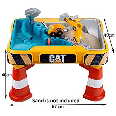 Theo Klein - CAT  Sand and Play Table Premium Toys for Kids Ages 3 Years & Up: Toys & Games