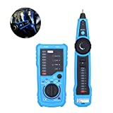 TOOLTOO Wire Tracker, RJ11 RJ45 Cable Tester Line Finder Multifunction Wire Tracer Toner Ethernet LAN Network Cable Tester for Network Cable Collation, Telephone Line Tester, Continuity Checking