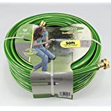 Worth 3 Stars 5/8 In. Dia X 50 Ft. Four-layer Green Garden Hose Ideal Indoor Outdoor Landscaping Watering Hose #5247