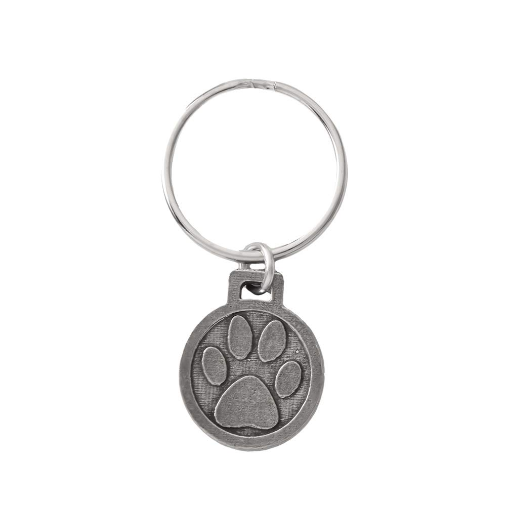 A1050KC Dog Paw Pewter Keychain
