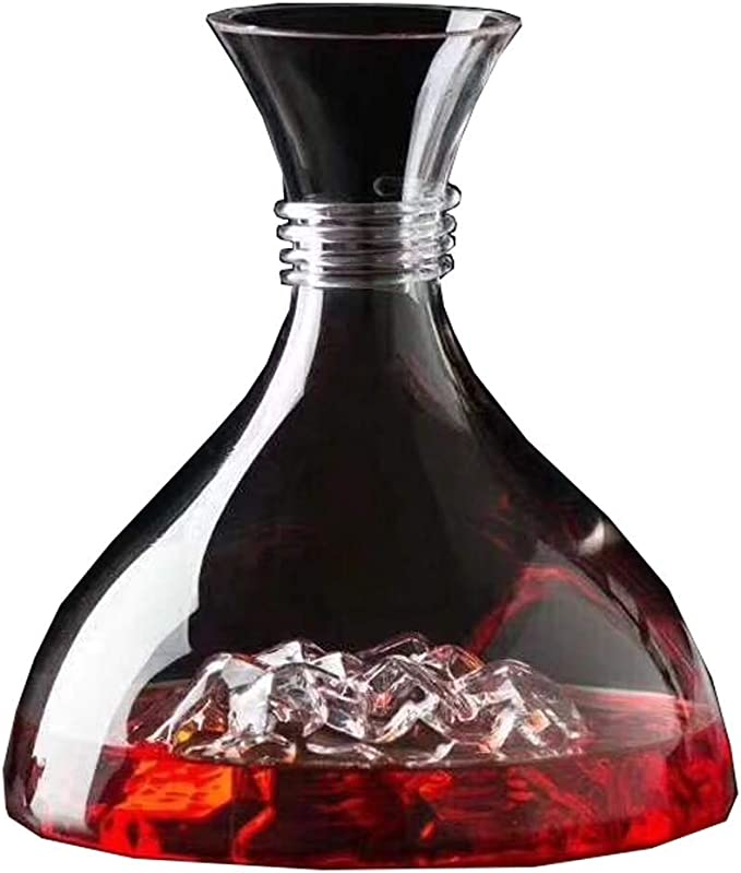 1 8l Classic Spiral Mouth Wine Decanter 100 Hand Blown Lead Free Crystal Glass Wine Carafe Whiskey Bottle Wine Accessories Wonderful Wine Gift Set Wine Air Aerator Elegant And Effective Wine Decanters Amazon Com