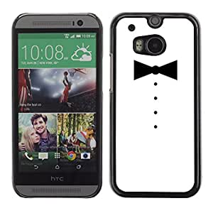 Graphic4You Bowtie Men Shirt Fashion Design Hard Case Cover for HTC One (M8)