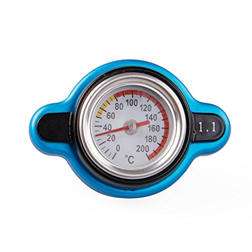 Sporacingrts Small Head Temperature Gauge with Utility Safe 1.1 Bar Thermo Radiator Cap Tank - Cap Radiator Small