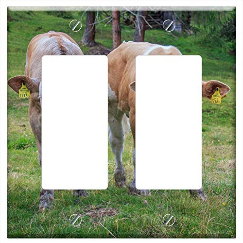 Switch Plate Double Rocker/GFCI - Calf Calves Cute for sale  Delivered anywhere in USA