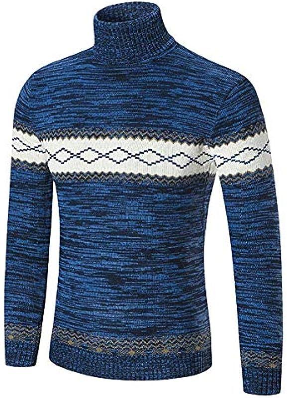 Męska bluza z wysoką zawartością bawełny sweter Top Jumpers Fashion Casual sweter z dzianiny ciepły długi rękaw znaczący nadruk sweter na rolce sweter z dzianiny: Odzież