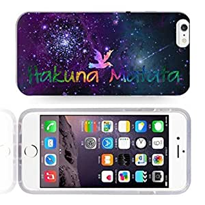 Africa Ancient Proverb HAKUNA MATATA Color Accelerating Universe Star Design Pattern HD Durable Hard Plastic Case Cover for iphone 4 4s