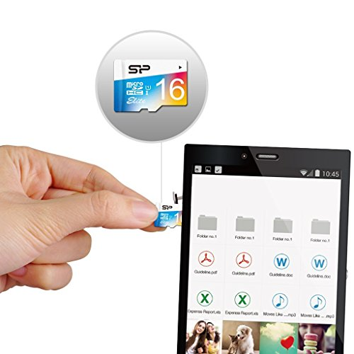 Silicon Power SP016GBSTHBU1V20AE  16GB, Up to 85MB/S MicroSDHC UHS-1 Class10, Elite Flash Memory Card, Adapter by Silicon Power (Image #2)