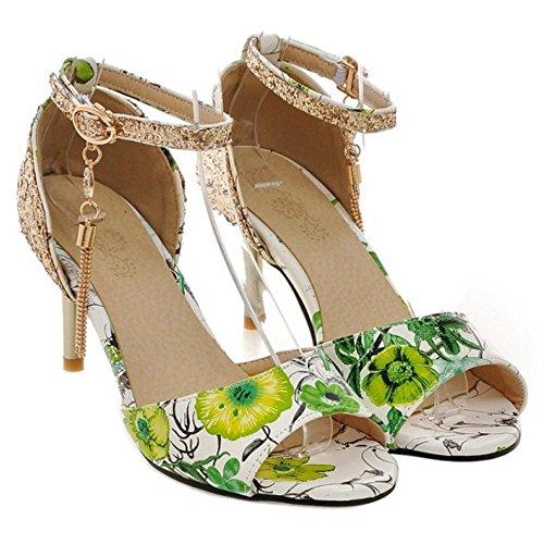 Femmes Sandales Toe green AicciAizzi Peep 2 vqzvw