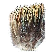 Zucker B151 Strung Badger Feather, Natural