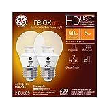 Tools & Hardware : GE Lighting Relax LED HD 4-watt (40-watt Replacement), 300-Lumen A15 Light Bulb with Medium Base, Soft White, 2-Pack