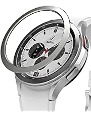 Ringke Bezel Styling Compatible with Samsung Galaxy Watch 4 Classic 46mm Adhesive Frame Ring Cover Anti Scratch [Stainless Steel] Protection for Galaxy Watch4 Classic 46mm - Silver [46-04]