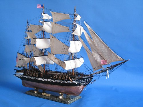 Constitution Wood Tall Ship Model - 4