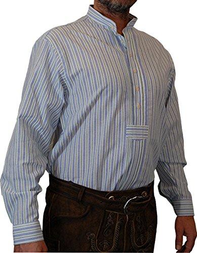 OS Hemd Wolfi IV im Streifendesign mit Bauchriegel und Stehkragen bis 6XL, Größe:Halsgröße 45/46 (XXL);Farbe:blau - grün