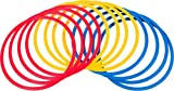 Trademark Innovations Speed and Agility Training Rings (Set of 12), Multi Color, 18-Inch
