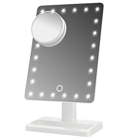 WanEway Large Lighted Makeup Vanity Dressing Table Mirror With 24 LED  Light, Illuminated Tabletops Cosmetic