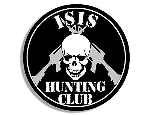 American Vinyl Round ISIS Hunting Club Sticker