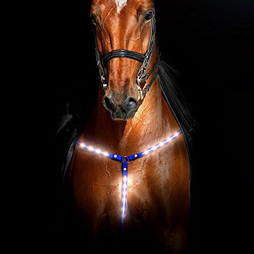 - Rural365 Reflective Horse Tack LED Horse Breastplate Collar in Blue – LED Horse Tack Breast Collar for Horses