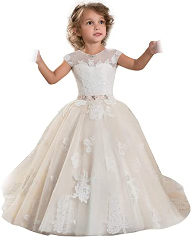 IVORY Flower Girl Dress Graduation Formal Dance Prom Bridesmaid Recital Wedding