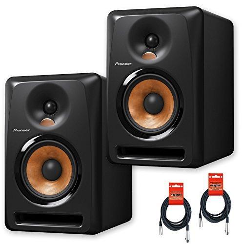 Pioneer DJ Bulit6 Active Reference 6-Inch Monitors - Black - Pair w/ 20ft XLR Cables - Bundle (Pioneer Dj Speakers Bundle)