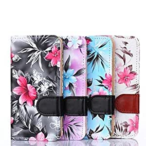 WQQ Floral Pattern PU Leather Full Body Cover with Card Slot and Stand Cave for Samsung Galaxy Alpha G850F (Assorted Color) , Black
