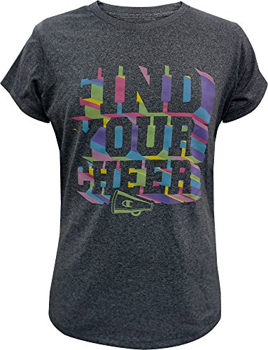 Champion Girls' Find Your Cheer Graphic Cheerleading T-Shirt