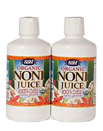 Jugo de noni hawaiano orgánico certificado, 2 x 32 ...
