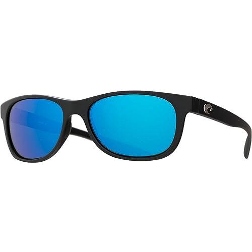 6876a8e3f837 Amazon.com : Costa Del Mar Prop Sunglass, Black/Blue Mirror 580Glass ...