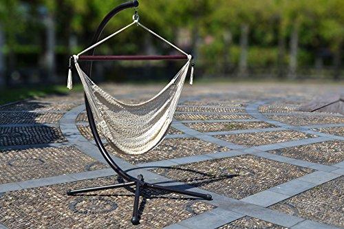 Hanging Caribbean Polyester Hammock Chair 48 Inch