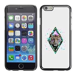 PC/Aluminum Funda Carcasa protectora para Apple Iphone 6 Cheetah Nature African Abstract / JUSTGO PHONE PROTECTOR