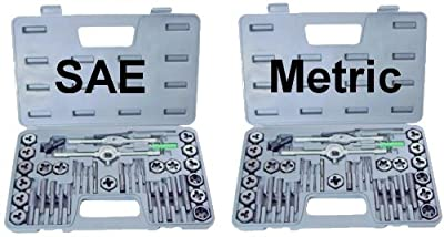 NEW 80 piece TAP AND DIE SET both SAE & METRIC + CASES by EDM